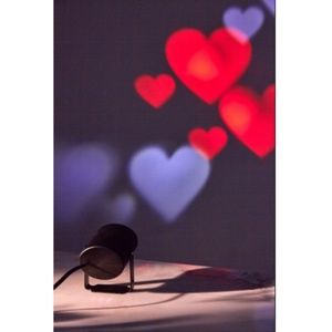 URBAN OUTFITTERS Heart Projector Light red white